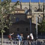 Peregrinos. Ciudad de ASTORGA. Provincia de Leon. España. Spain