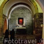 """Caliz que dicen """"sangra"""". Interior de la iglesia de O CEBREIRO. Lugo. Galicia. España"""