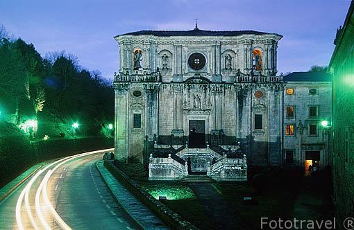 Monasterio de San Julian de Samos. Fundado por Martin el Dumiense en S.VII . De orden Benedictina. SAMOS. Lugo. Galicia . España