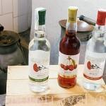 Tres variedades de anises producidos por la empresa Alquitarras de Cazalla (la mas antigua del pueblo)CAZALLA DE LA SIERRA. P. Natural de la Sierra Norte. Sevilla. España.