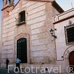 Parte de la fachada del Palacio de San Benito. CAZALLA DE LA SIERRA. Sevilla. España.
