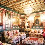 """Biblioteca. Hotel """"Palacio de San Benito"""". CAZALLA DE LA SIERRA. Sevilla. España"""