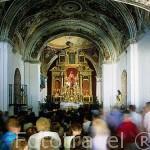 Interior de la ermita de Nuestra Señora de Guaditoca. GUADALCANAL. Parque natural de la Sierra Norte. Sevilla. España