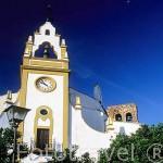 Iglesia de Sta. Maria de la Asunción con su torre de estilo múdejar. GUADALCANAL. Sevilla. España