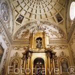 Capilla Sacramental de la Iglesia de Ntra. Sra. de la Consolación( Trazada por Pedro Díaz de Palacios en 1574). EL PEDROSO. Sierra Norte. Sevilla. España.