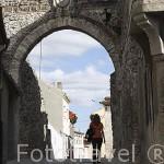 Arco de San Andres con su escudo del Concejo de Cuellar. Pueblo de CUELLAR. Comarca de Tierra de Pinares. Segovia. Castilla y León. España