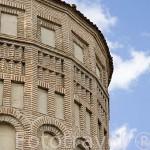 Abside mudejar de la iglesia de San Esteban, s.XII- XIII. Pueblo de CUELLAR. Comarca de Tierra de Pinares. Segovia. Castilla y León. España