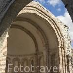 Abside mudejar de la antigua iglesia de Santiago. s.XII-XIII. Pueblo de CUELLAR. Comarca de Tierra de Pinares. Segovia. Castilla y León. España