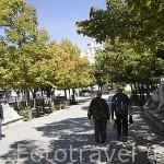 Paseos de San Francisco. Pueblo de CUELLAR. Comarca de Tierra de Pinares. Segovia. Castilla y León. España