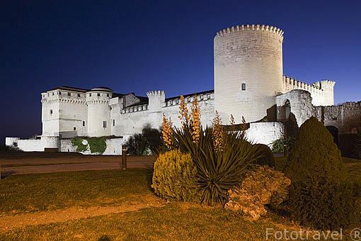 Castillo de los Duques de Alburquerque. Construido a partir del s.XI - XVI. Pueblo de CUELLAR. Comarca de Tierra de Pinares. Segovia. Castilla y León. España