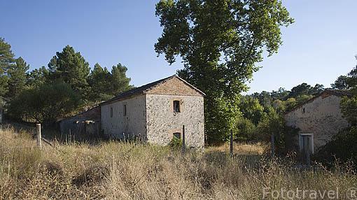 Molino del Ladron cerca del rio Cega. Comarca de Tierra de Pinares. Segovia. Castilla y León. España