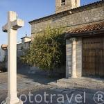 Iglesia de San Martin de Tours en el pueblo de SACRAMENIA. Comarca de Tierra de Pinares. Segovia. Castilla y León. España