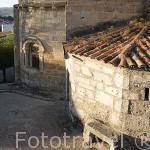 Abside de la iglesia de San Martin de Tours en el pueblo de SACRAMENIA. Comarca de Tierra de Pinares. Segovia. Castilla y León. España