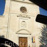 Fachada del Palacio de los Condes de Montijo. Pueblo de FUENTIDUEÑA. Comarca de Tierra de Pinares. Segovia. Castilla y León. España