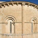 Abside de la iglesia de San Miguel. Pueblo de FUENTIDUEÑA. Comarca de Tierra de Pinares. Segovia. Castilla y León. España