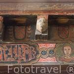 Pinturas medievales en el coro. s.XV. Iglesia de la Vera Cruz. Pueblo de CUEVAS DE PROVANCO. Comarca de Tierra de Pinares. Segovia. Castilla y León. España