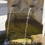 Detalle de los caños del pilon. En el pueblo de VALTIENDAS. Comarca de Tierra de Pinares. Segovia. Castilla y León. España