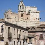 Plaza mayor del pueblo de TUREGANO. Comarca de Tierra de Pinares. Segovia. Castilla y León. España