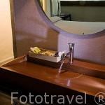 Detalle de un baño. Casa rural De Hechizo. CARRASCAL DE LA CUESTA. Comarca de Tierra de Pinares. Segovia. Castilla y León. España