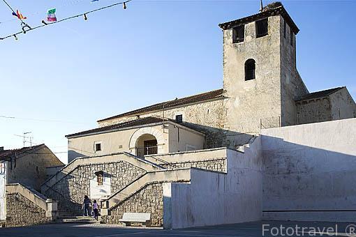 Iglesia de San Juan Bautista en TORRECILLA DEL PINAR. Comarca de Tierra de Pinares. Segovia. Castilla y León. España