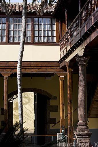 Patio interior. Casa de Alvarado-Bracamonte o de los Capitanes. SAN CRISTOBAL DE LA LAGUNA. Patrimonio UNESCO. Tenerife. Islas Canarias. España