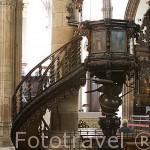 Pulpito, anonimo, finales s.XVIII en madera de cedro y barbuzano. Iglesia Concepción. SAN CRISTOBAL DE LA LAGUNA. Patrimonio UNESCO. Tenerife. Islas Canarias. España