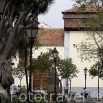 Ajimez en lo alto de una de las torres del convento de Santa Catalina de Siena, s.XVII. Plaza del Adelantado. SAN CRISTOBAL DE LA LAGUNA. Patrimonio UNESCO. Tenerife. Islas Canarias. España