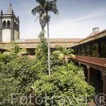 """Patio interior. Iglesia y exconvento de San Agustin. S.XVI. (Instituto de Canarias """"Cabrera Pinto"""")SAN CRISTOBAL DE LA LAGUNA. Patrimonio UNESCO. Tenerife. Islas Canarias. España"""
