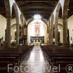 Interior. Al fondo la virgen de la Inmaculada Concepción, s.XIX, por Fernando Estevez. La iglesia de la Concepción, finales S.XVI- XVIII. SAN CRISTOBAL DE LA LAGUNA. Patrimonio UNESCO. Tenerife. Islas Canarias. España