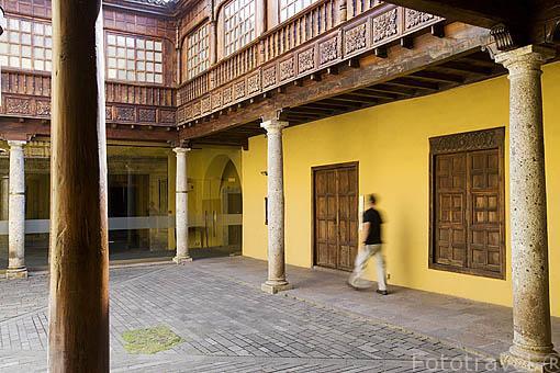 Patio interior. Palacio de Lercaro. Museo de Historia y Antropologia. SAN CRISTOBAL DE LA LAGUNA. Patrimonio UNESCO. Tenerife. Islas Canarias. España