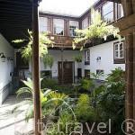 Patio interior. Casa Montañes, edificio consultivo de Canarias. SAN CRISTOBAL DE LA LAGUNA. Patrimonio UNESCO. Tenerife. Islas Canarias. España
