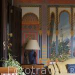 Pinturas del s.XIX. Casa Montañes, edificio consultivo de Canarias. SAN CRISTOBAL DE LA LAGUNA. Patrimonio UNESCO. Tenerife. Islas Canarias. España