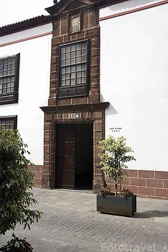Casa Riquel, s.XVIII. En calle Obispo Rey Redondo o La Carrera. SAN CRISTOBAL DE LA LAGUNA. Patrimonio UNESCO. Tenerife. Islas Canarias. España
