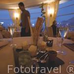 Restaurante gastronomico. Hotel Les Tresoms. ANNECY. Alta Saboya. Rhones Alpes. Francia.