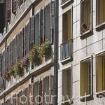 Fachadas de edificios en la Plaza Saint Leger. CHAMBERY. Rhones Alpes. Francia