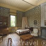 Habitación. Casa de Jean Jacques Rousseau. Convertido en el museo de Charmettes, donde vivio con Madame de Warens. En las afueras de CHAMBERY. Saboya. Rhones Alpes. Francia