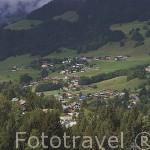 Vista de la poblacion de MEGEVE. Valle de Arly. Alta Saboya. Rhones Alpes. Francia