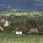 Paisaje cerca de la poblacion de ROCHE SUR FORON. Alta Saboya. Rhones Alpes. Francia