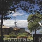 La ciudadela de YVOIRE sobre el lago Leman. Alta Saboya. Rhones Alpes. Francia
