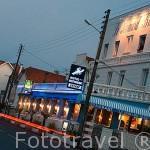 Fachada del hotel restaurante Le Homard Bleu. En SAINT TROJAN. Isla de Oleron . Francia