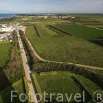Vista desde lo más alto del faro de Chassiron, 46 metros de altura. Inaugurado en 1836. Norte de la isla de Oleron. Francia