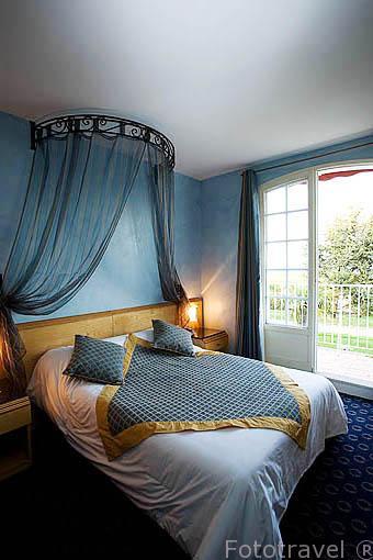 Habitacion. Hotel Les Cleunes ****, en Boulevard de la Plage. SAINT TROJAN. Isla de Oleron. Francia