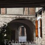 Pueblo del s.XVI - XVII de Castelnau de Montmiral. Tarn. Francia