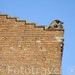 Detalle de un jabali en el tejado. Abadia de la poblacion de Gaillac (Galhac en occitano). Junto al rio Tarn. Francia