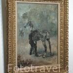 Artillero ensillando su caballo, 1879. Oleo sobre lienzo. Henri de Toulouse Lautrec. Museo Toulouse Lautrec. Ciudad de Albi. Tarn. Francia