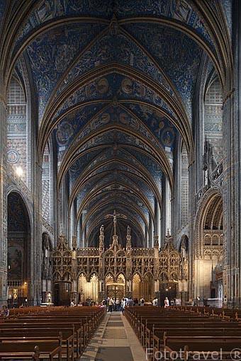 Pinturas de la boveda datan del s.XVI. Catedral de Sainte Cecile. Patrimonio de la Humanidad, UNESCO. Ciudad de Albi. Tarn. Francia