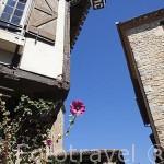 Antiguas casas. Pueblo medieval de Puycelsi. Tarn. Francia
