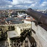 Cañon. Mirador del castillo de San Jorge. Zona de Castelo. LISBOA. Portugal