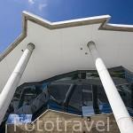 Modernos edificios de oficinas se construyeron despues de la Expo del 98. Parque de las Naciones. Ciudad de LISBOA. Portugal
