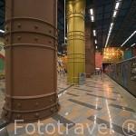 Estación de metro de Olaias. Linea Roja (Oriente) construida para la Expo del 98. LISBOA. Portugal